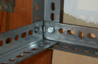 Overhead Garage Shelves Using Slotted Angle Iron – David Frink
